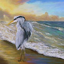 Blue Heron Beach Painting by Ken Figurski