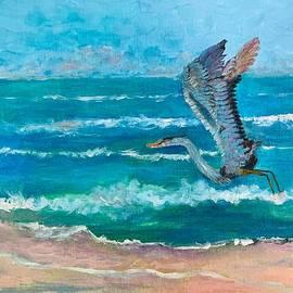 Blue Heron Taking Flight by Anne Sands