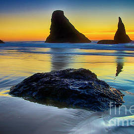Blue Hour Bandon By The Sea by Bob Christopher