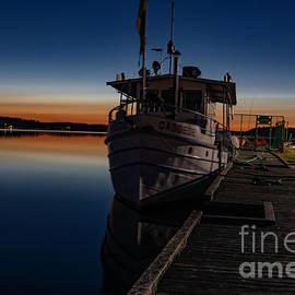 Blue Hour Boat by Torfinn Johannessen