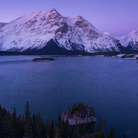 Blue Hour Canadian Rockies, Alberta Canada by Yves Gagnon