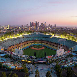 Blue hour over Dodger Staduim by Josh Fuhrman