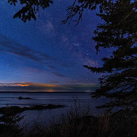 Blue Hour Over Sail Rock QHSP by Marty Saccone