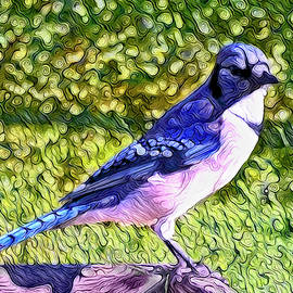 Blue Jay Posing Pretty by Leslie Montgomery