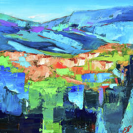 Blue Landscape by Elise Palmigiani
