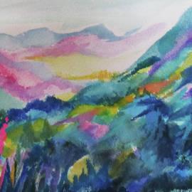 Blue Mountain Valley by Jean Batzell Fitzgerald