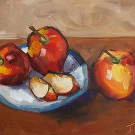 Blue Plate Apples by Tara D Kemp