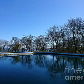 Blue pool sea and sky, Filey by Paul Boizot