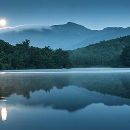 Blue Ridge North Carolina Full Moon Mountain Reflections by Mark VanDyke