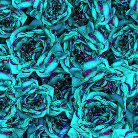 Blue Rose Collage by Vanessa Thomas