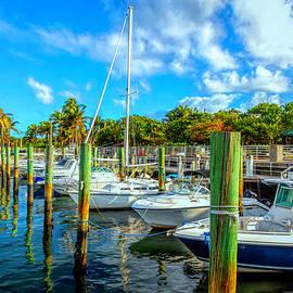 Blue Skies at the Marina by Debra and Dave Vanderlaan