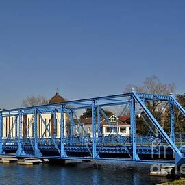 Historic Magnolia Blue Swing Bridge Over Bayou St. John In New Orleans Louisiana by Michael Hoard