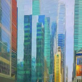 Blue Toronto, artwork 2 by Helen Filatova