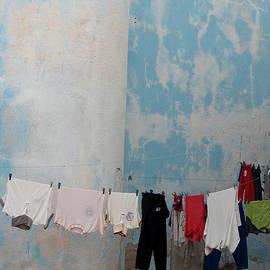Blue Wall and Laundry by Doug Matthews