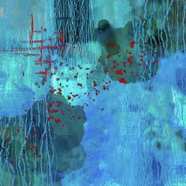Blue Water Abstract by Nancy Merkle