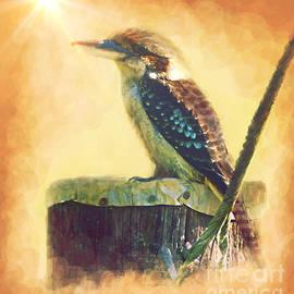Blue Winged Kookaburra by Trudee Hunter