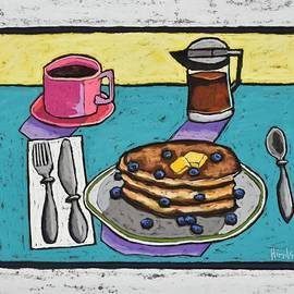 Blueberry Flapjacks by David Hinds