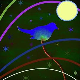 A Bluebird, The Moon And The Stars by Alida M Haslett