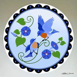 Bluebird Distelfinks by Hanne Lore Koehler