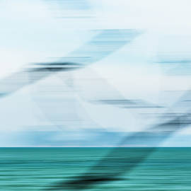 Blurred Branches, Turquoise Sea by Lucy Brown