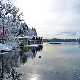 Boat House in Winter by Lyuba Filatova