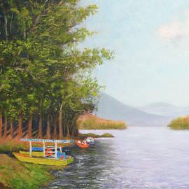 Boat in Munnar by Uma Krishnamoorthy