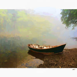 Boat on Bank of the Cumberland River - DWP1856205 by Dean Wittle