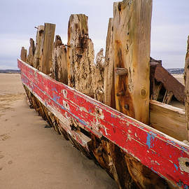 Boat Wreck Crow Point Devon Side View by Richard Brookes