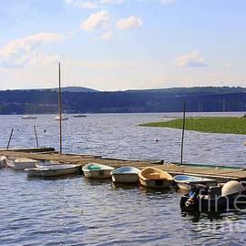 Boats Along Long Dock, Beacon, New York by Dora Sofia Caputo