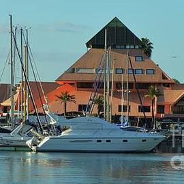 Boats And A Pyramid In Vilamoura, Portugal by Poet's Eye