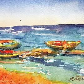 Boats. Cyprus by Nadezhda Bogomolova