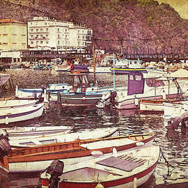 Boats in Sorrento Harbor by Mary Machare