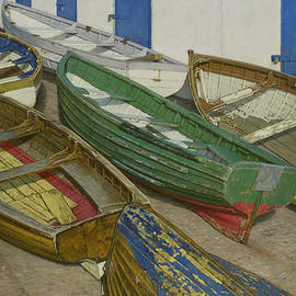 Boats on Slipway by Brian McCarthy