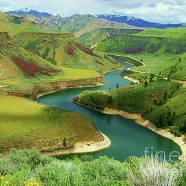 Boise River Flowing Through The Majestic Landscape Art Print by Art Sandi