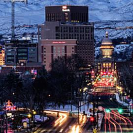 Boise skyline in winter by Vishwanath Bhat
