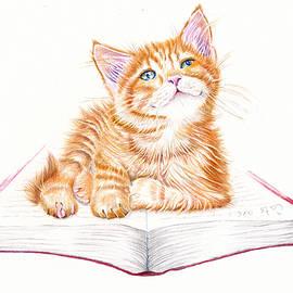 Bookmark - Marmalade Kitten by Debra Hall
