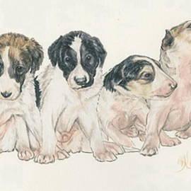 Borzoi Wolfhound Puppies by Barbara Keith