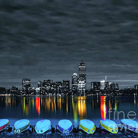 Boston by Night by RC- Photography LLC