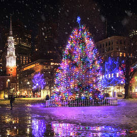 Boston Common in Christmas by Joann Vitali
