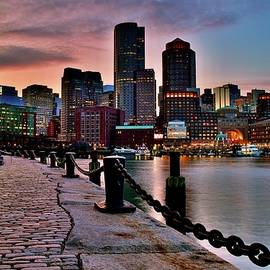 Boston Mass at Dusk by Frozen in Time Fine Art Photography