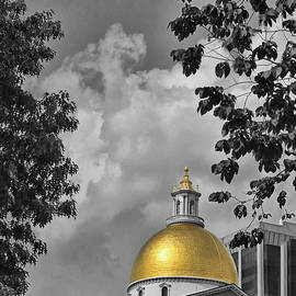 Boston - Massachusetts Statehouse, Selective Color by Allen Beatty