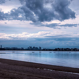Boston Skyline from Wollaston Beach - Quincy by Joann Vitali