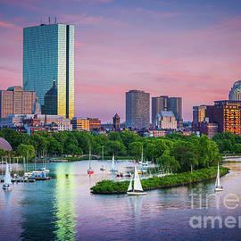 Boston Skyline by Inge Johnsson