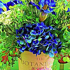 Botanical Society Floral Arrangement Abstract Expressionist Effect by Rose Santuci-Sofranko