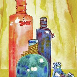 Bottles And A Birdie by Janie Easley Ballard