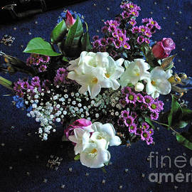 Bouquet featuring White Freesias by Kathryn Jones