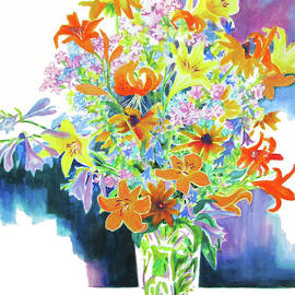 Bouquet in Light and Dark by Kathy Braud
