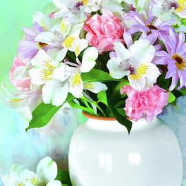 Bouquet in Spring Colors by Regina Geoghan
