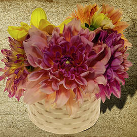 Bouquet of Colorful Dahlias by Gary McJimsey