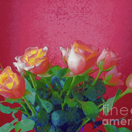Bouquet Of Roses Painted by Jasna Dragun